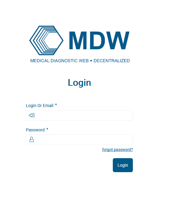 Login to prod.mdw.io